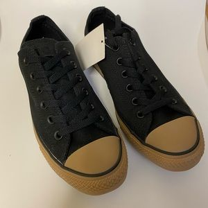 Converse black rubber